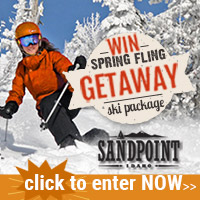 Want to win a FREE SKI GETAWAY to Sandpoint? Then go enter Visit Sandpoint's getaway giveaway for lodging, dining, skiing and more. Click 'n' enter»