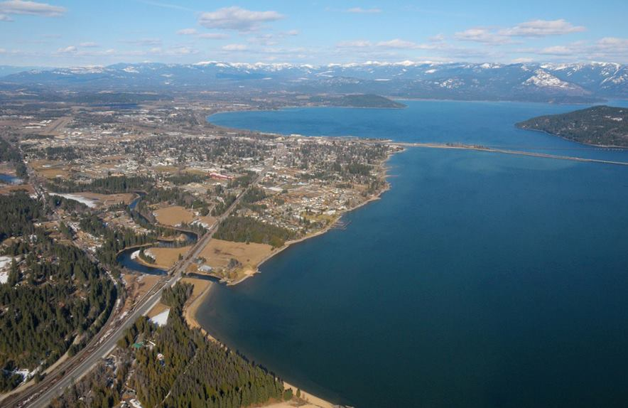 Airplane tours Lake Pend Oreille Sandpoint Idaho