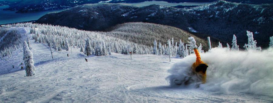 Schweitzer skiing in Sandpoint Idaho