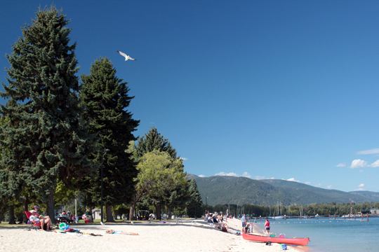 city beach in Sandpoint Idaho