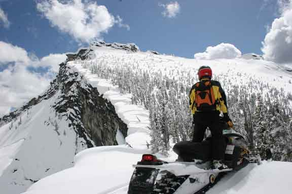 Bustin Through The Backcountry Snowmobiling In Winter