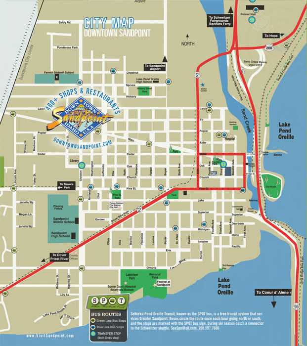 sandpoint online s maps for sandpoint id